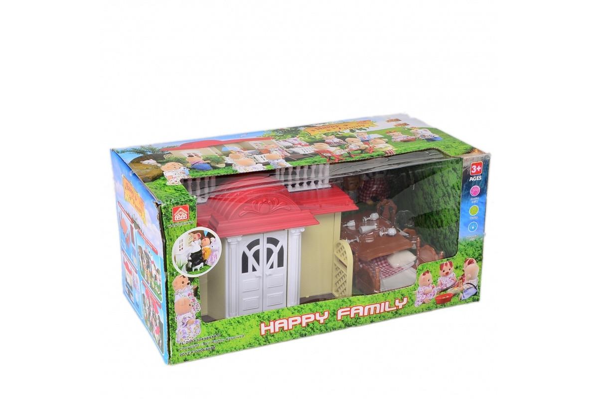 Игровой набор домик лесной с мебелью и фигурками IF255