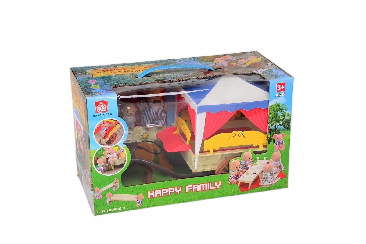 Игровой набор домик лесной с мебелью и фигурками IF257