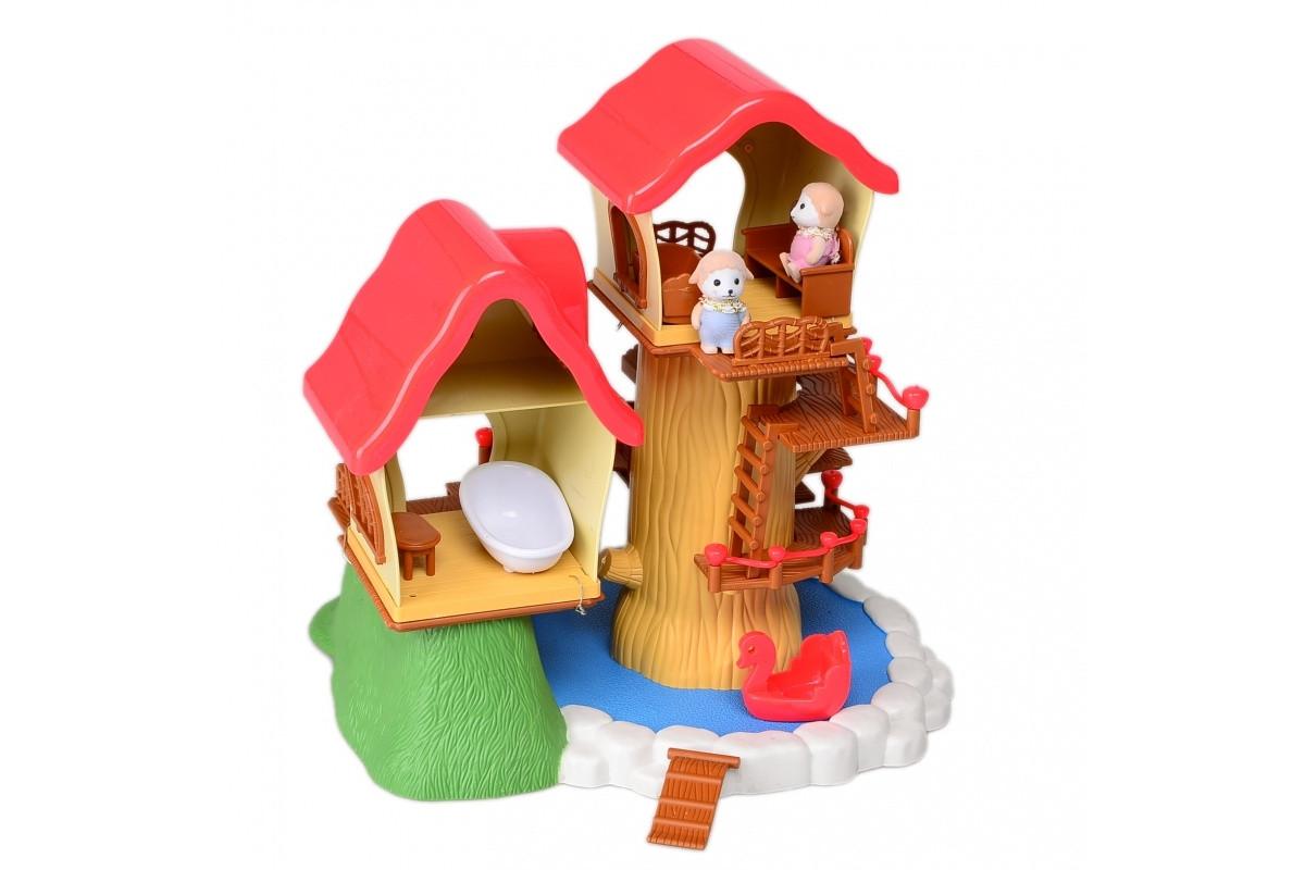 Игровой набор домик лесной с мебелью и фигурками IF259