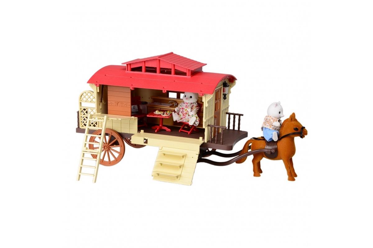 Игровой набор домик лесной с мебелью и фигурками IF256