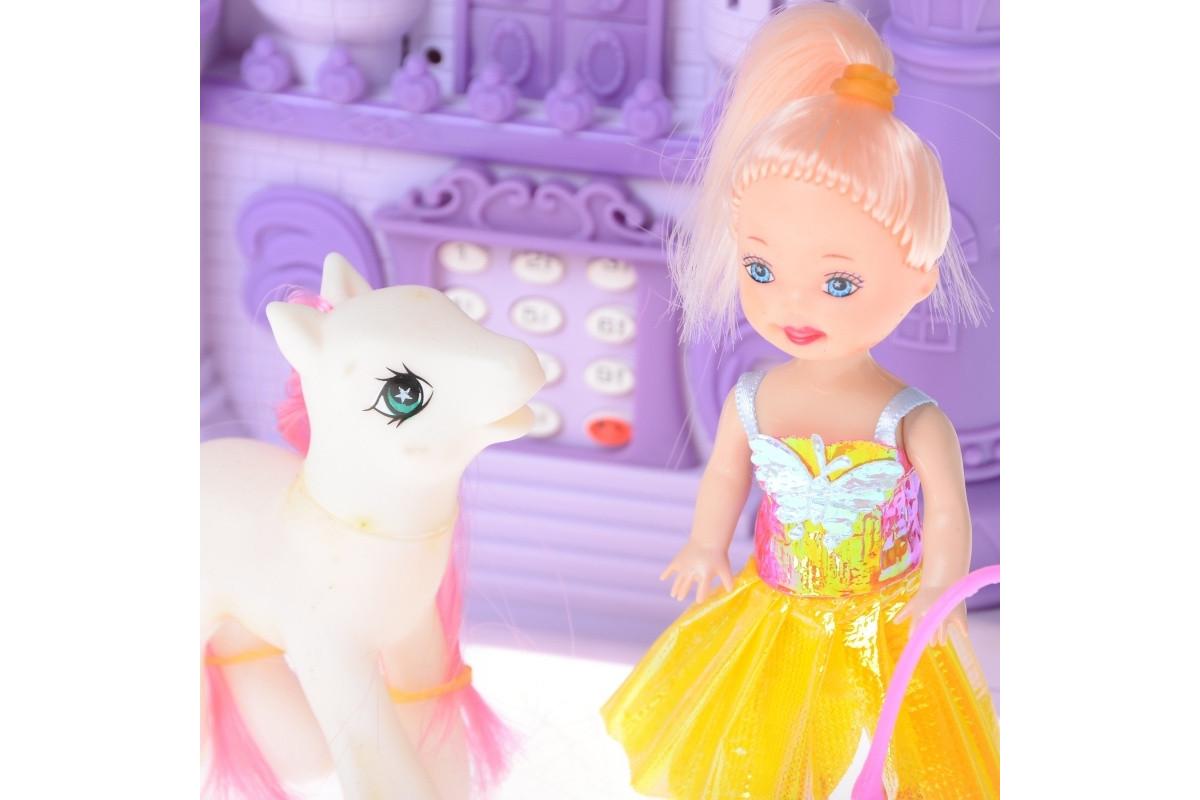 Игровой набор Кукла с аксессуарами, пони и замок-телефон ID44B