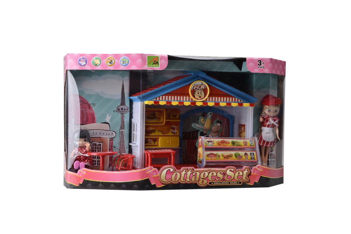 Игровой набор домик для куклы Фаст-фуд IM372