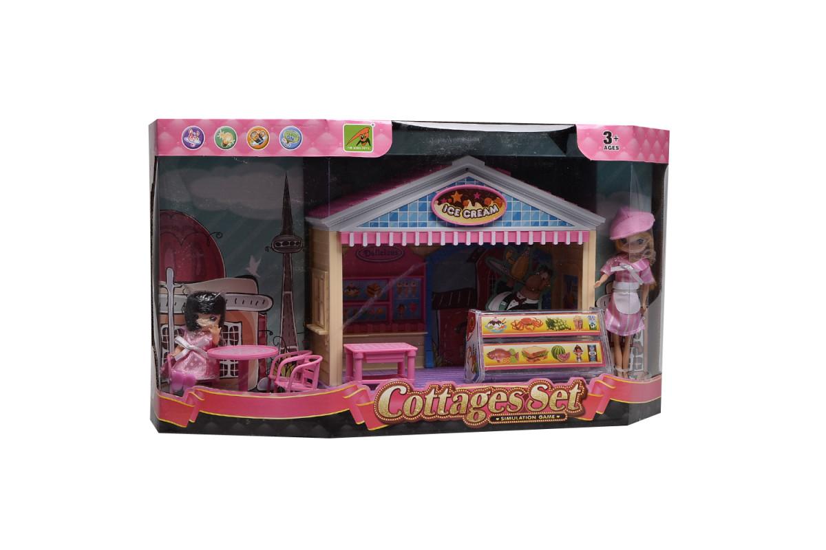 Игровой набор домик для куклы Кафе-мороженое IM373