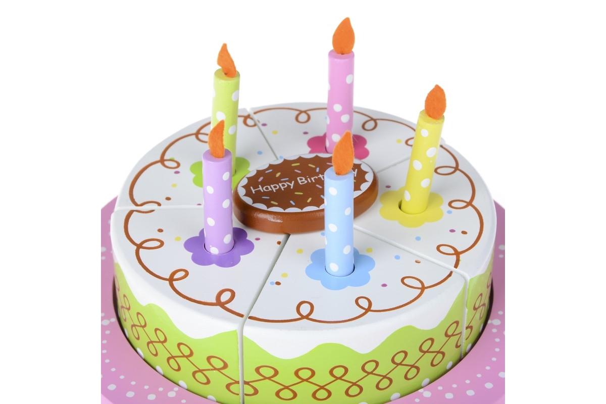Игровой набор Деревянный праздничный торт IE187