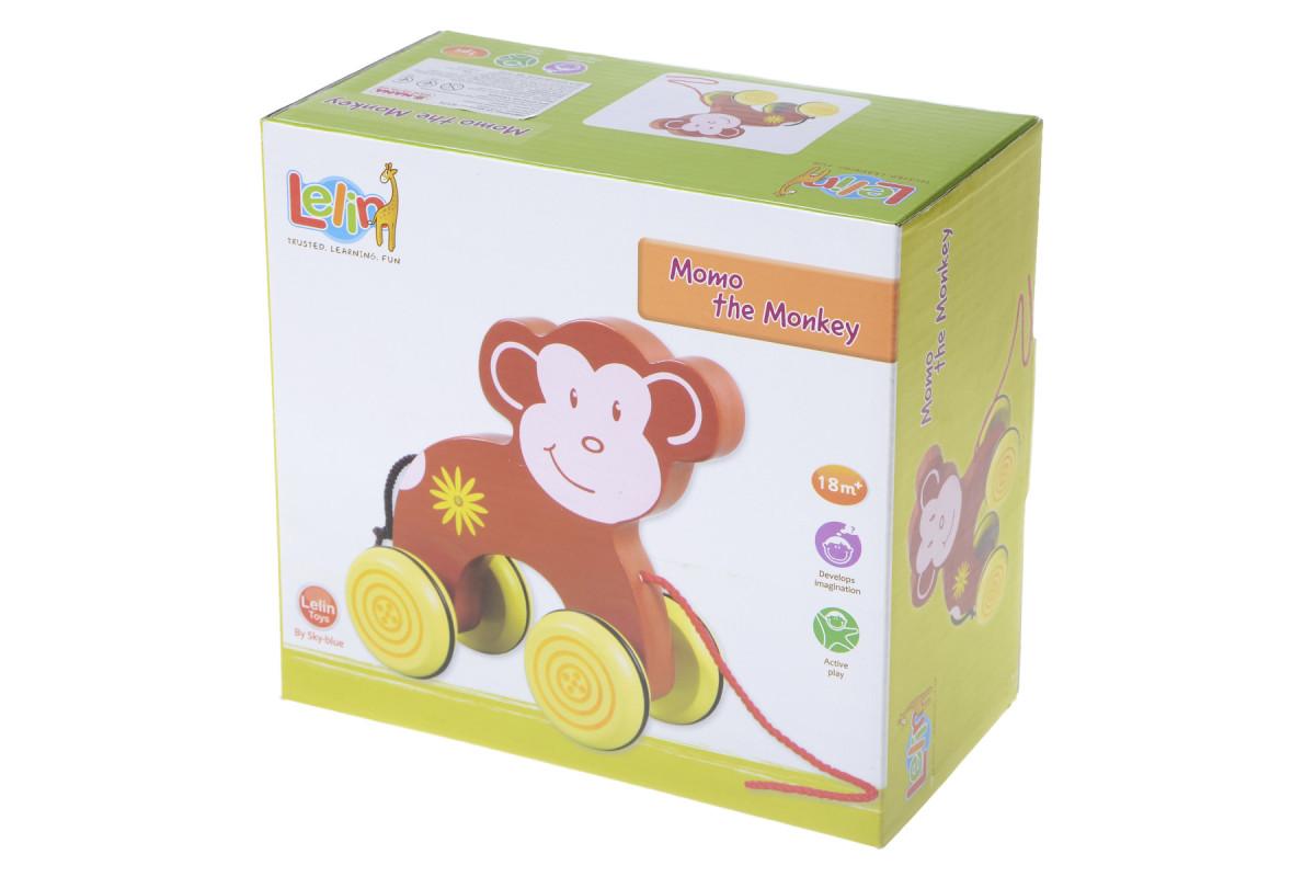 Деревянная обезьяна на веревочке IE174
