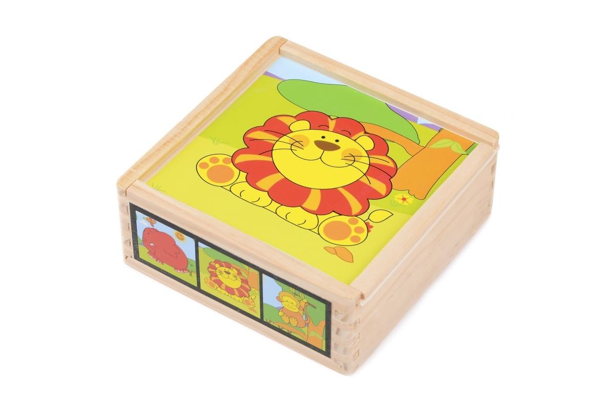 Развивающая игрушка деревянные кубики животные IE140