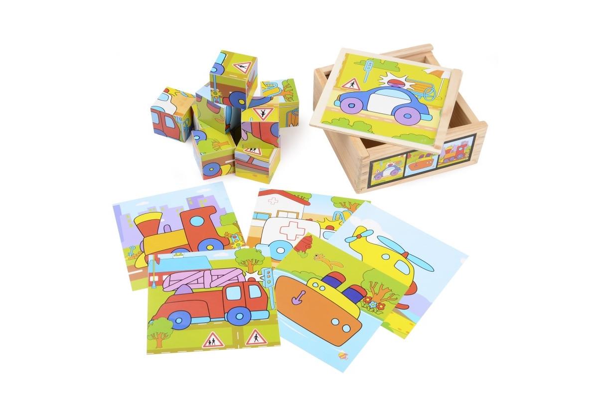 Развивающая игрушка деревянные кубики в пенале IE141