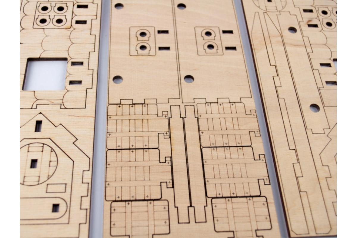 Деревянный конструктор 3D Таран