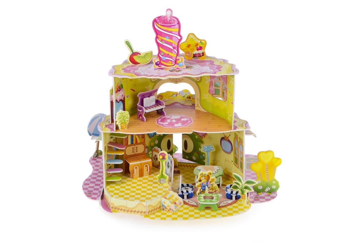 3D Пазл Кукольный домик-торт IE11