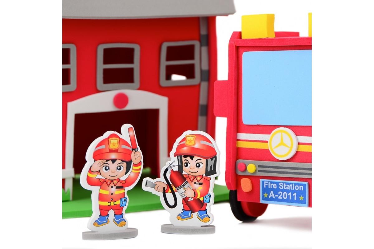 3D Пазл пожарная станция IE512