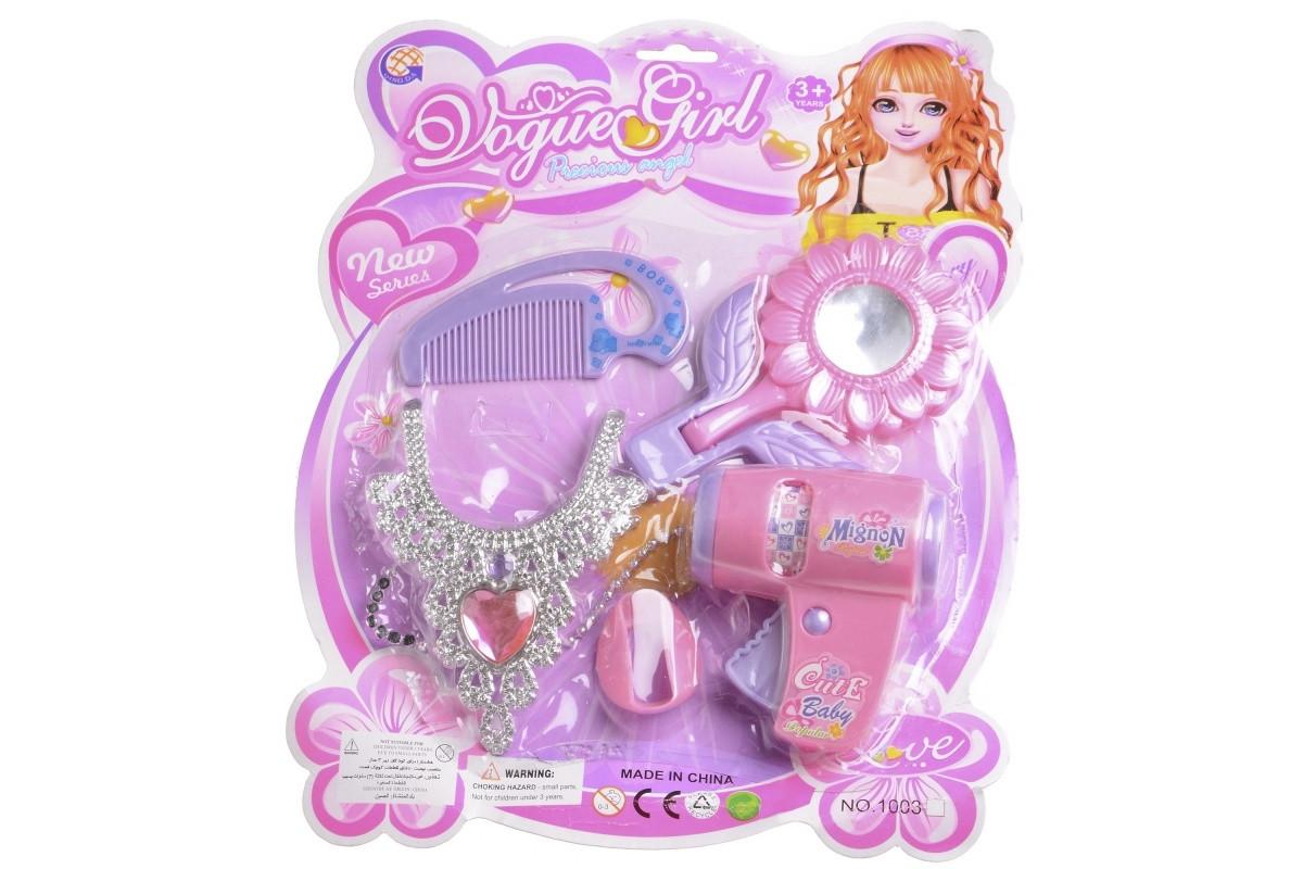 Игровой набор Колье, зеркальце и фен для девочки IE49C1