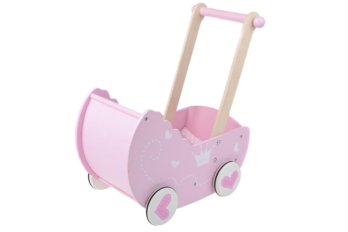 Деревянная коляска для куклы IE185
