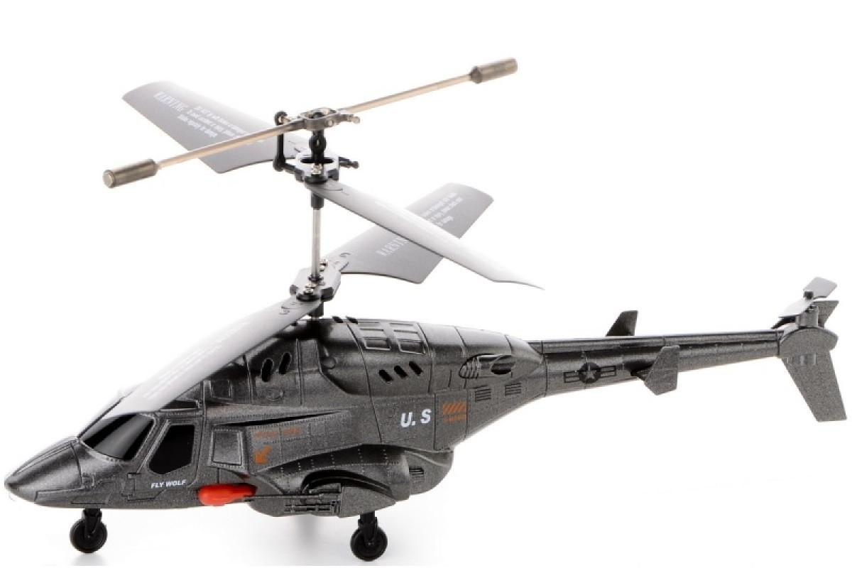 Военный вертолет на радиоуправлении с ракетами IM190