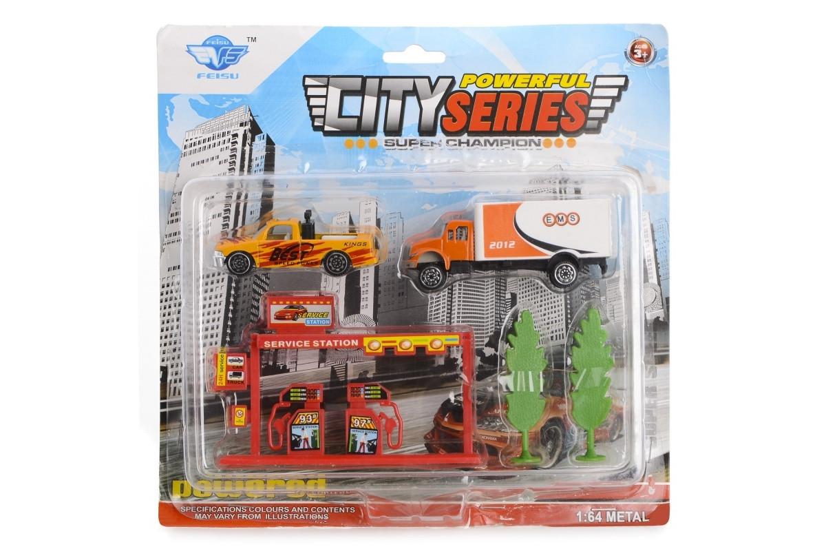 Игровой набор Автозаправка и грузовик IM294