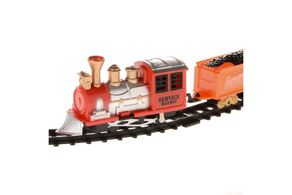 Детская железная дорога с паровозом и вагонами IM242