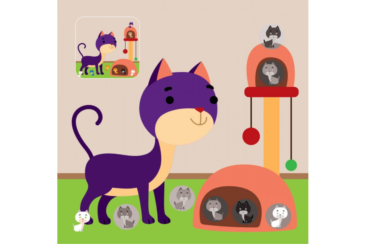 Детская книга аппликаций Домик для малыша
