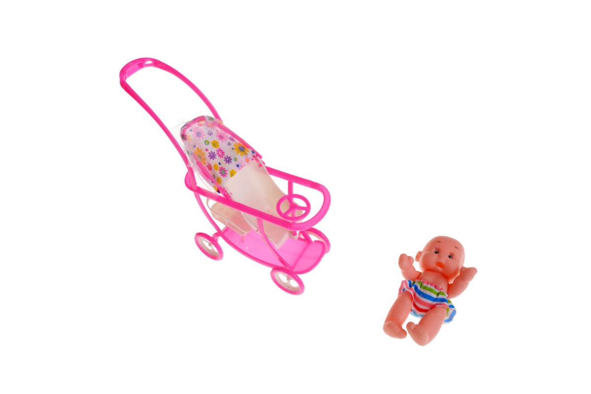 ID284 Кукла малыш с коляской