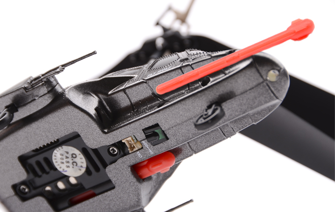 Стреляющий вертолет на радиоуправлении