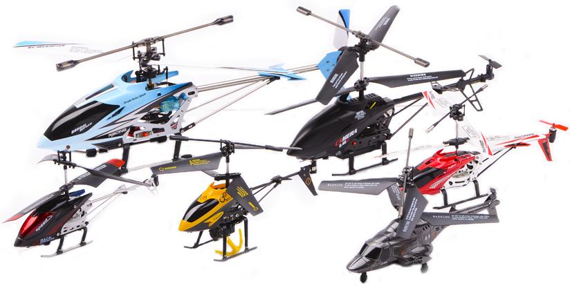Размеры вертолетов на радиоуправлении